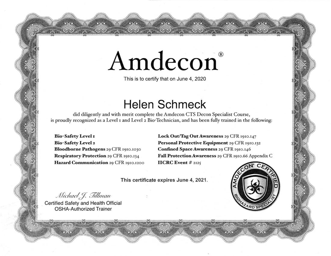 Amdecon Certificate